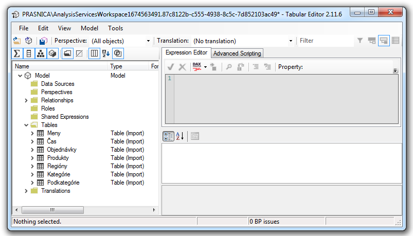 Úprava dátového modelu v Power BI cez externé nástroje - Tabular Editor