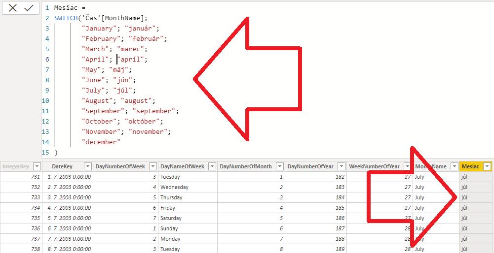 SWITCH v jazyku DAX - v PowerPivote aj Power BI, prvý príklad